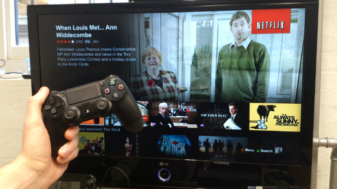 Using Netflix on your PlayStation